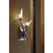 Flavia Double Wall Light in Polished Chrome with Tulip Style Glass Shades - MANTRA M0308PC/S